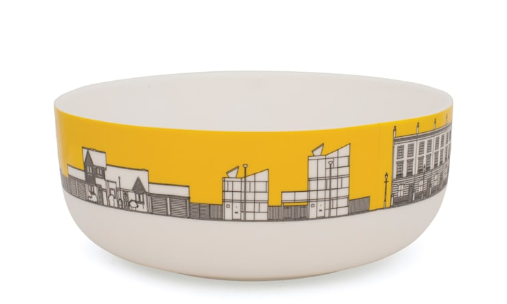 Eclectic Avenue cereal bowl - yolk yellow: modern  by People Will Always Need Plates, Modern