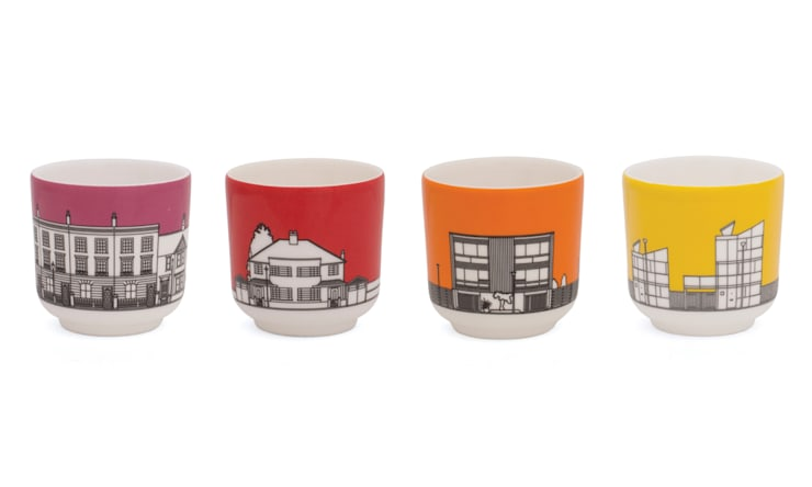 Eclectic Avenue egg cups - set/4: modern  by People Will Always Need Plates, Modern