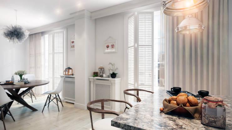 Скандинавская эклектика: Кухни в . Автор – CO:interior