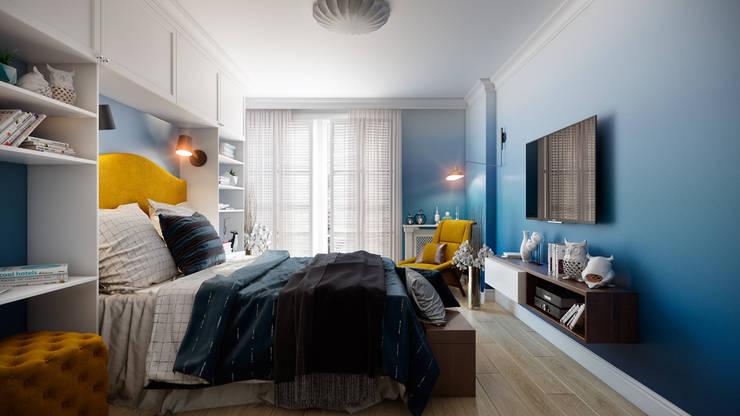 Скандинавская эклектика: Спальни в . Автор – CO:interior