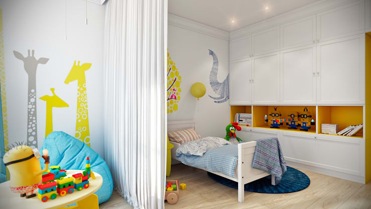 Projekty,  Pokój dziecięcy zaprojektowane przez CO:interior