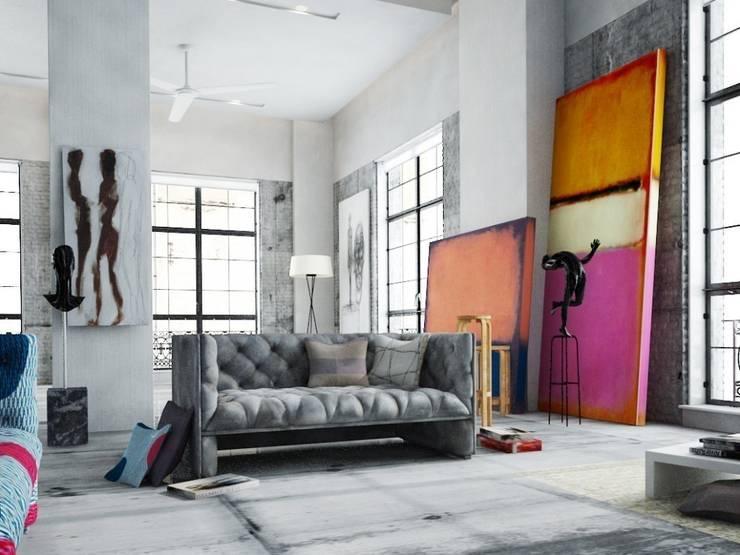 Mark Rothko inspired oversized artwork: modern  by King & McGaw, Modern