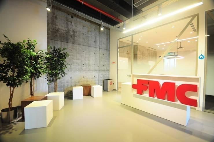 na-md Mimarlık – FMC OFİS VE LABORATUVAR:  tarz Ofisler ve Mağazalar