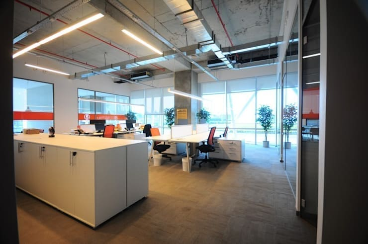 na-md Mimarlık – FMC OFİS VE LABORATUVAR:  tarz Ofis Alanları