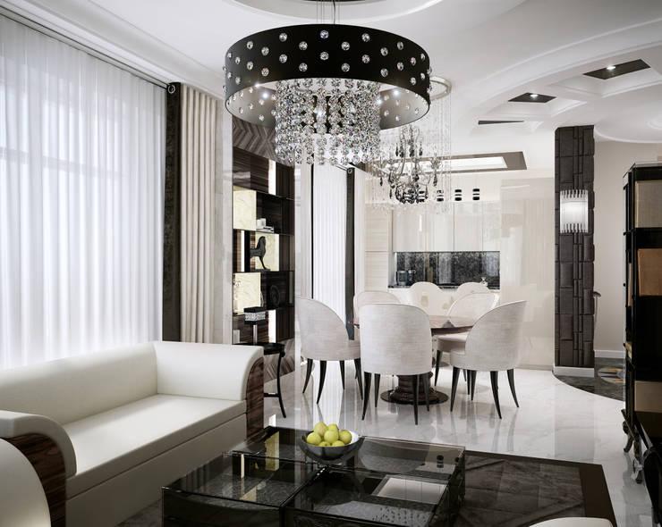 Modern Classic: Гостиная в . Автор – DenisBu