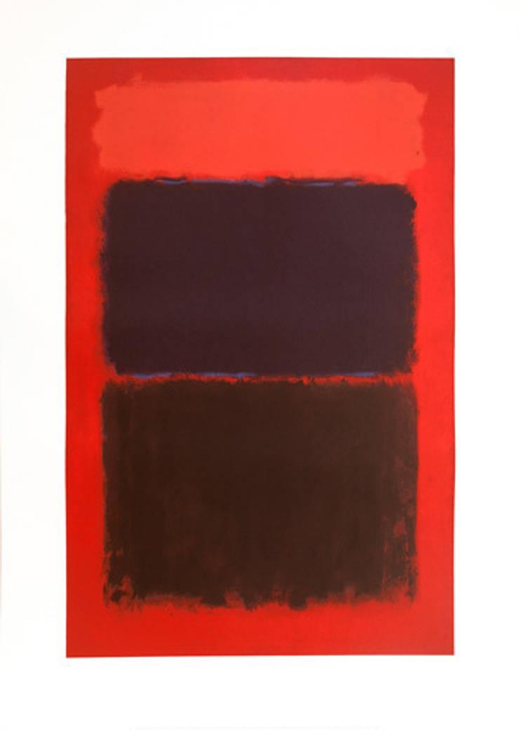 Light Red Over Black, 1957 by Mark Rothko: minimalist  by King & McGaw, Minimalist