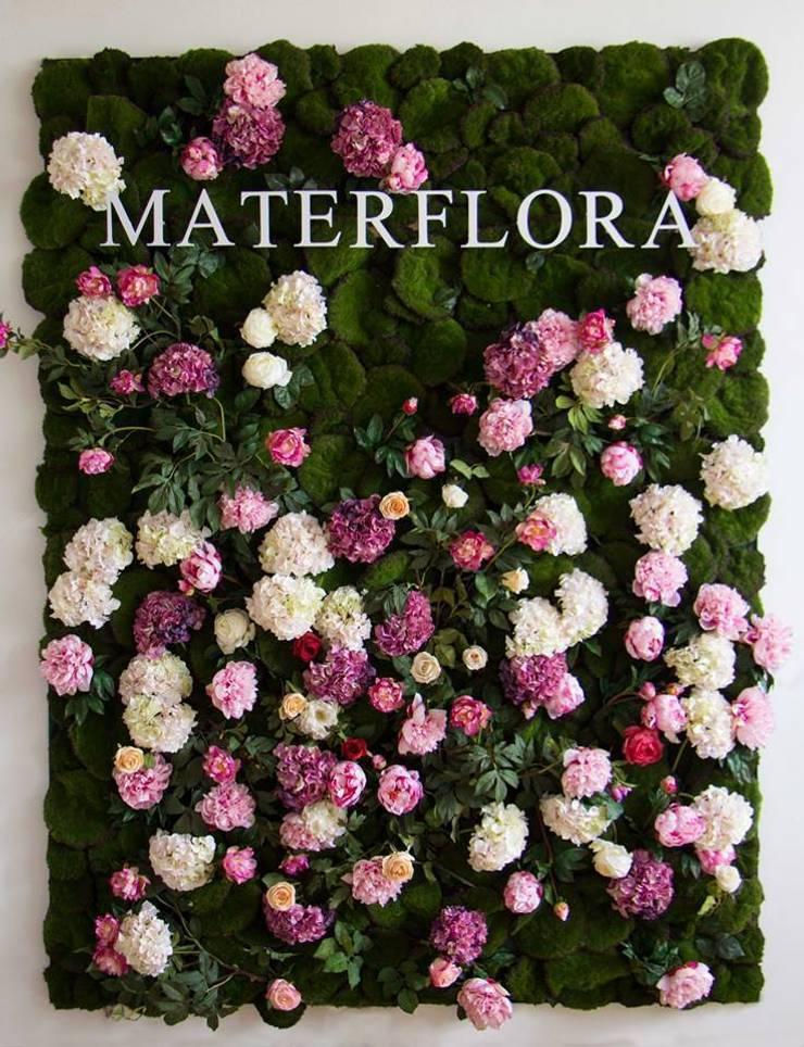 Secret Garden Floral Wall: modern  by Materflora Lda., Modern
