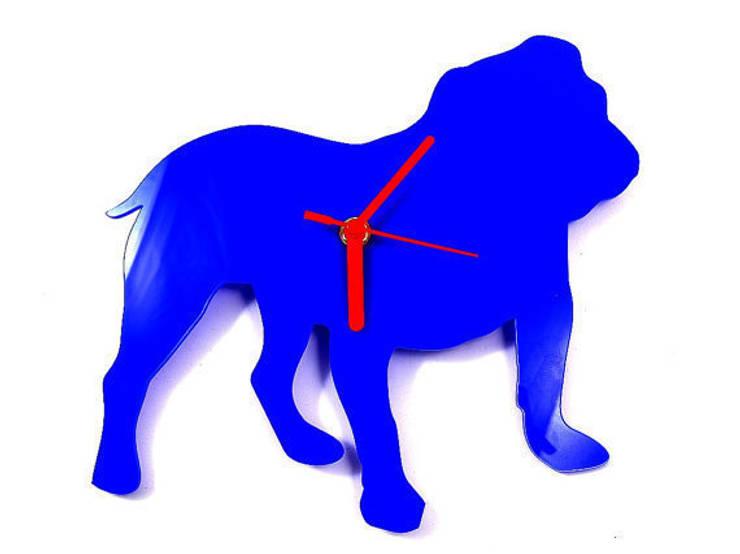 English Bulldog Silhouette Clock: modern  by BooBoo and Ted, Modern