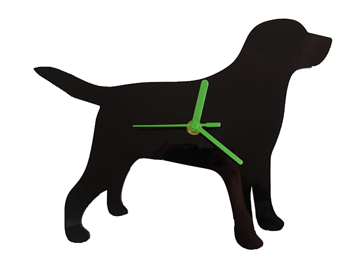Labrador Dog Silhouette Clock: modern  by BooBoo and Ted, Modern