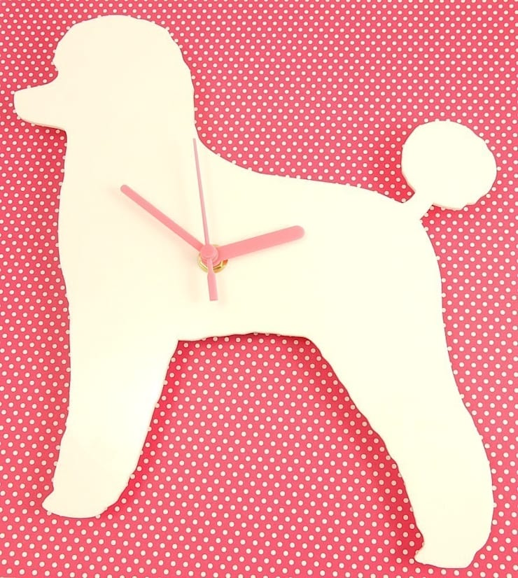 Poodle Dog Silhouette Clock : modern  by BooBoo and Ted, Modern