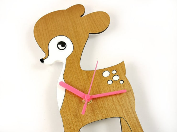 Fawn Clock: modern  by BooBoo and Ted, Modern