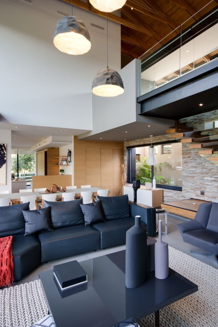 House in Blair Atholl:  Living room by Nico Van Der Meulen Architects , Modern