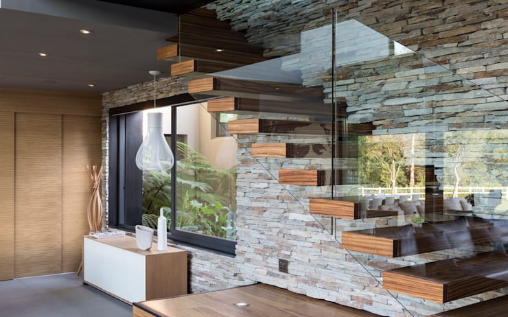 House in Blair Atholl:  Living room by Nico Van Der Meulen Architects