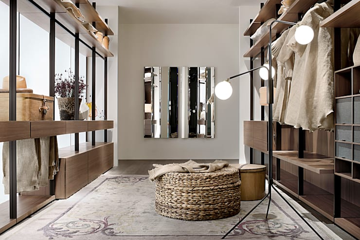 Hangar Walk In Wardrobe by LEMA:  Dressing room by Campbell Watson