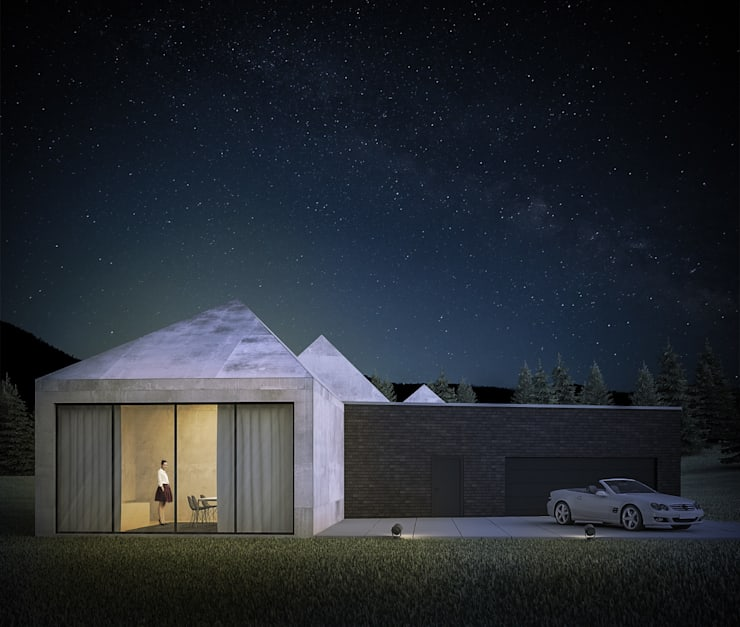 Minimalistische huizen van 3XEL Biuro projektowe Minimalistisch