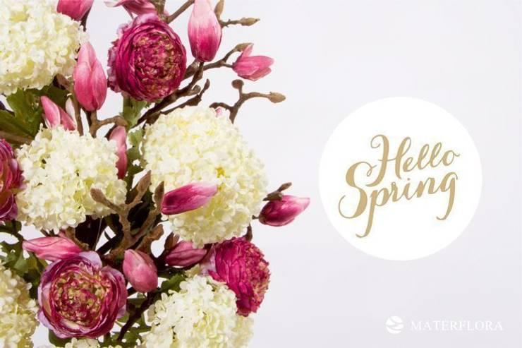 Ranunculus, Magnolia Buds and Snowball Hydrangeas: classic  by Materflora Lda., Classic