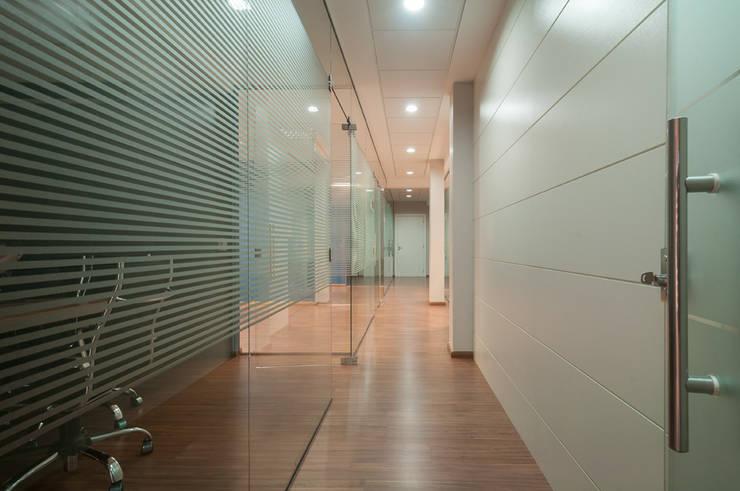 ESCRITORIO: Espaços comerciais  por Adriane Cesa Arquitetura,Moderno