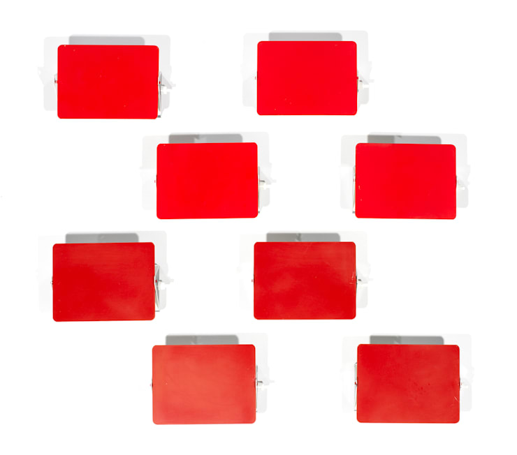 CP1 Charlotte Perriand Red Wall Lights: modern  by Flure Grossart 20th Century Design & Interiors, Modern