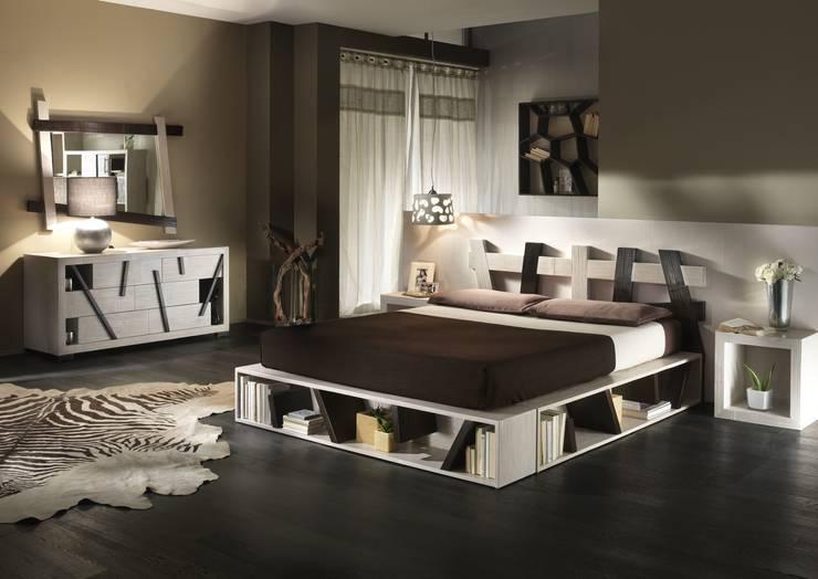Camere da letto giapponesi: Camera da letto in stile  di Negozio del Giunco