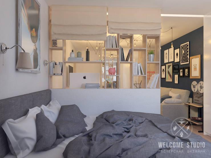 Гостиная, ракурс 5: Гостиная в . Автор – Мастерская дизайна Welcome Studio