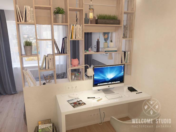 Гостиная, ракурс 6: Гостиная в . Автор – Мастерская дизайна Welcome Studio