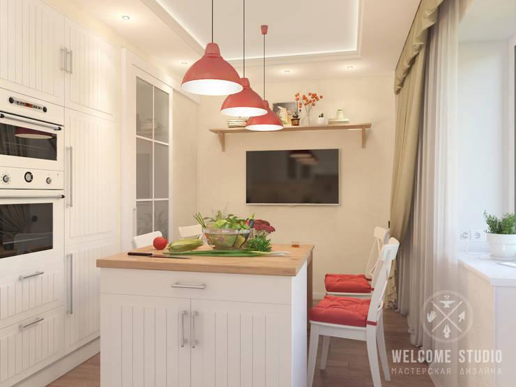Кухня, ракурс 2: Кухни в . Автор – Мастерская дизайна Welcome Studio
