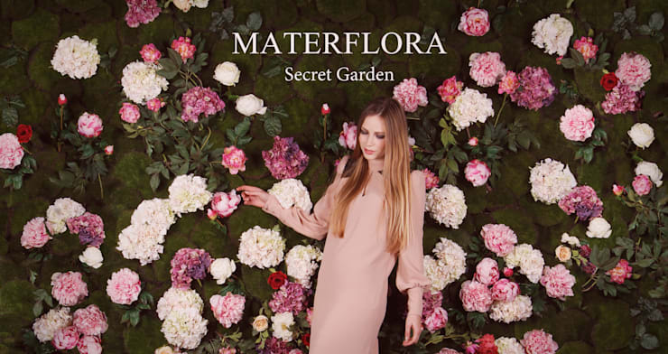 Secret Garden Wall Panel: modern  by Materflora Lda., Modern