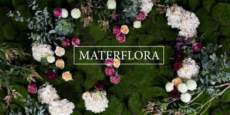 Rustic Floral Wall by Materflora: rustic  by Materflora Lda., Rustic