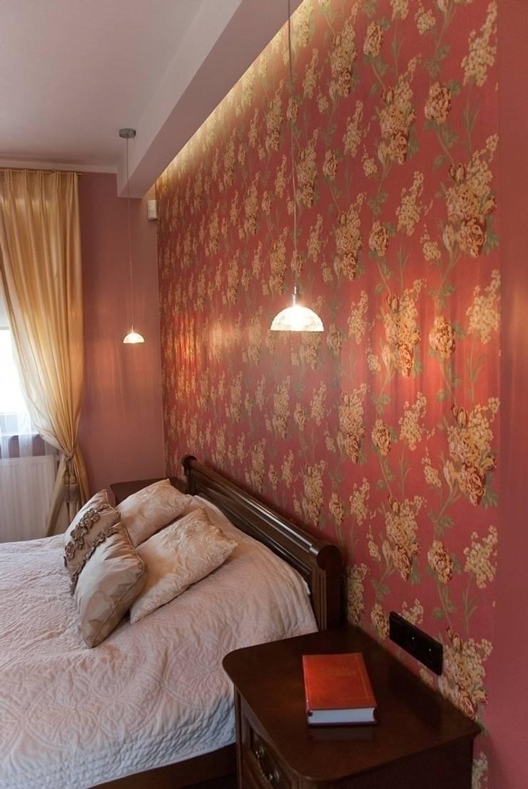 APARTAMENT EKLEKTYCZNY: styl , w kategorii Sypialnia zaprojektowany przez YNOX Architektura Wnętrz