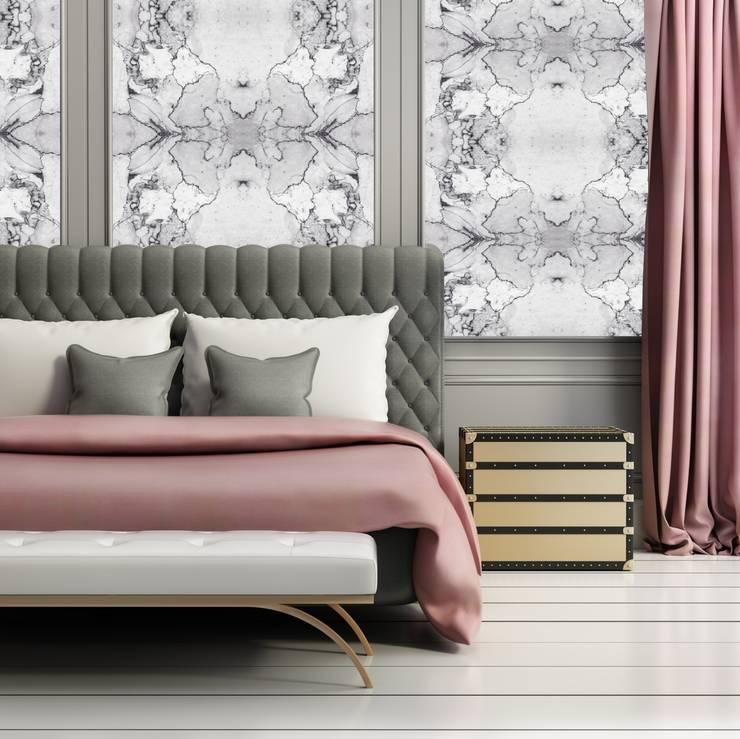TAPETA CARRARA: styl , w kategorii Ściany i podłogi zaprojektowany przez Eclectic Living
