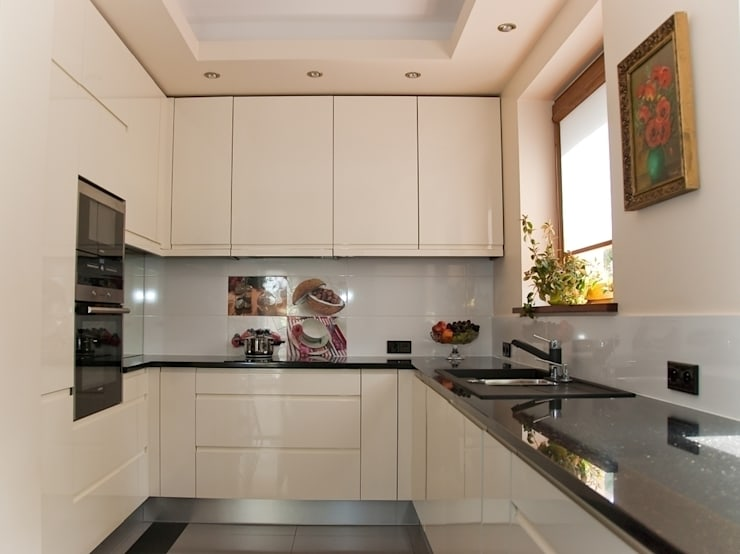 APARTAMENT EKLEKTYCZNY: styl , w kategorii Kuchnia zaprojektowany przez YNOX Architektura Wnętrz