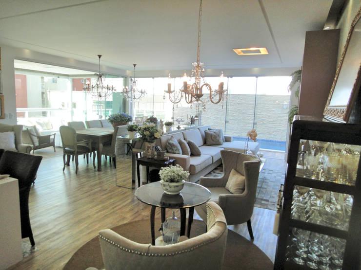 Gabriela Herde Arquitetura & Design:  tarz Oturma Odası, Eklektik