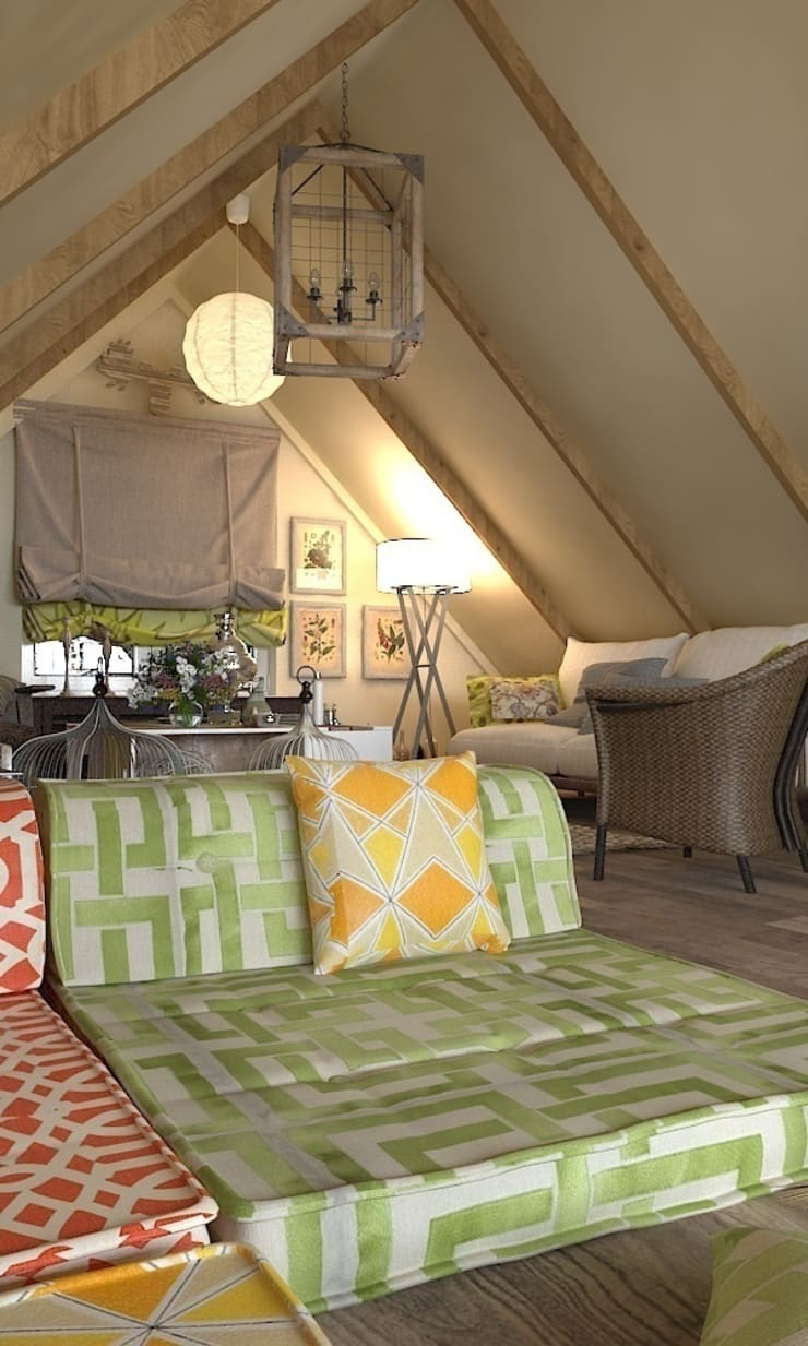 мансарда с террасой – attic with  terrace: Tерраса в . Автор – AnARCHI
