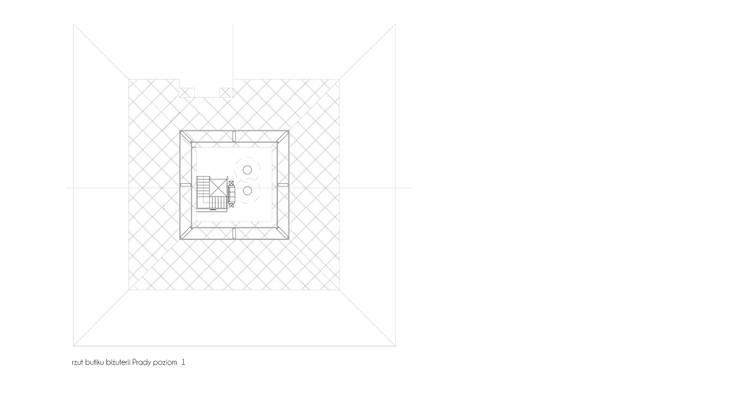 rzuty butiku z bizuteria Prady: styl , w kategorii Powierzchnie handlowe zaprojektowany przez izabela jaroszek,