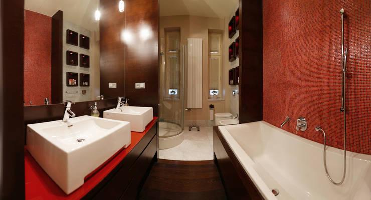 Anna Buczny PROJEKTOWANIE WNĘTRZ  łazienka: styl , w kategorii Łazienka zaprojektowany przez Anna Buczny PROJEKTOWANIE WNĘTRZ