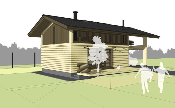 вид дома: Дома в . Автор – artemuma - архитектурное бюро, Скандинавский