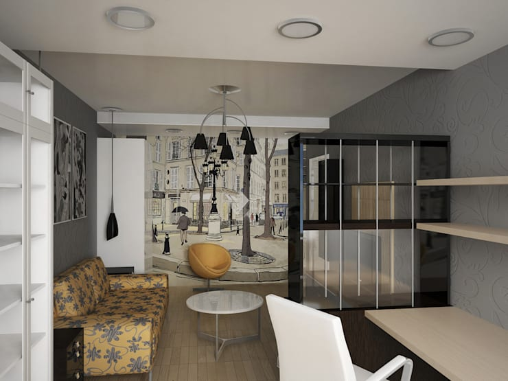 гостиная: Гостиная в . Автор – artemuma - архитектурное бюро