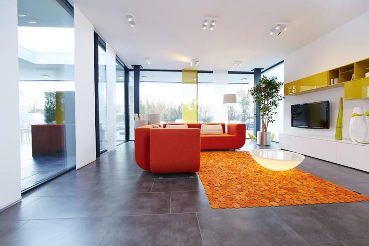 Projekty,  Salon zaprojektowane przez OKAL Haus GmbH