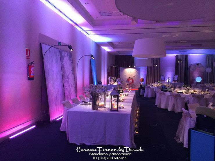 Atrezzo para boda : Salones de estilo  de Carmen Fernandez Interiorismo y Eventos