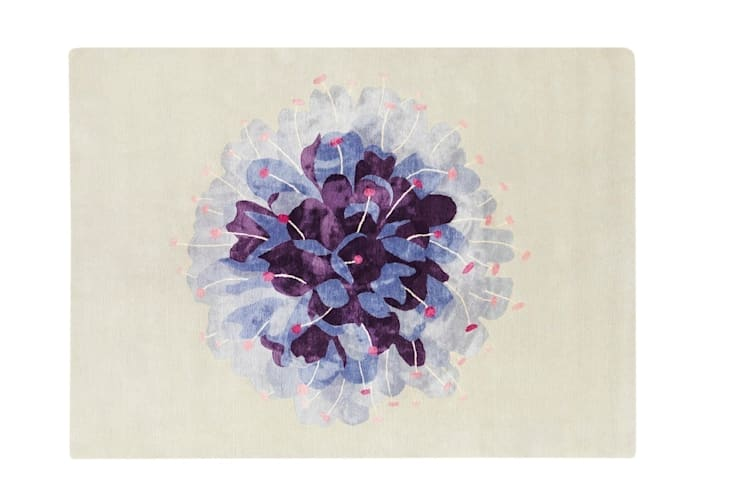 Deirdre Dyson DEVIL's BIT SCABIOUS hand knotted wool and silk rug: classic  by Deirdre Dyson LLP, Classic