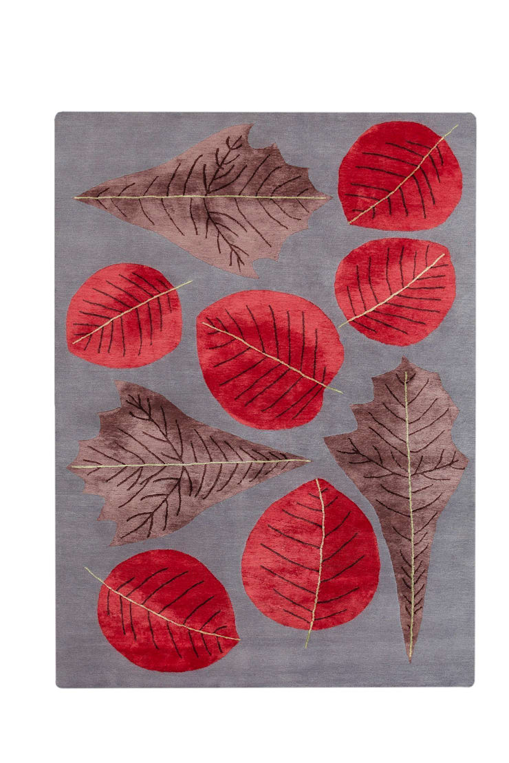 Deirdre Dyson AUTUMN LEAVES hand knotted wool and silk rug : classic  by Deirdre Dyson LLP, Classic