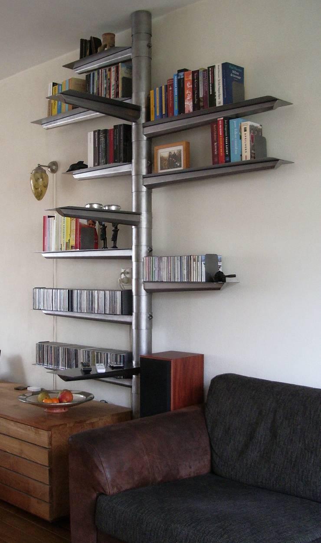 The Spindle raw steel:  Woonkamer door RetroWorks