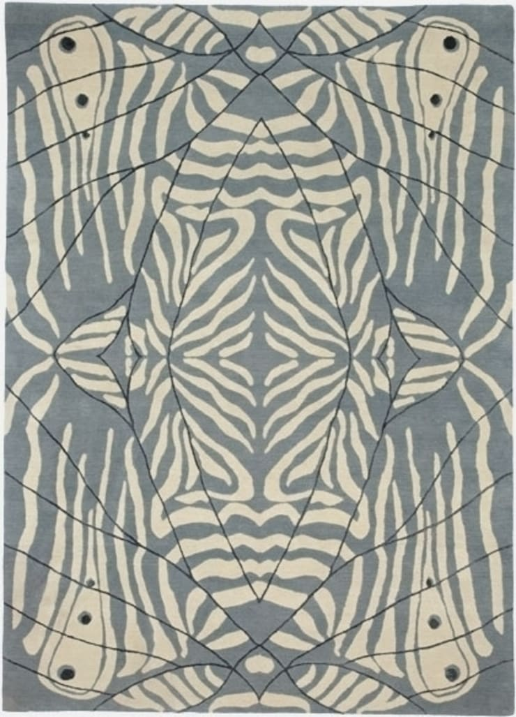 Deirdre Dyson LEPKE (FROST) hand knotted wool and silk rug: classic  by Deirdre Dyson LLP, Classic