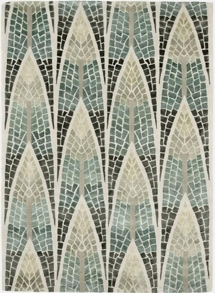 Deirdre Dyson FOREST MOSAIC hand knotted wool and silk rug: modern  by Deirdre Dyson LLP, Modern