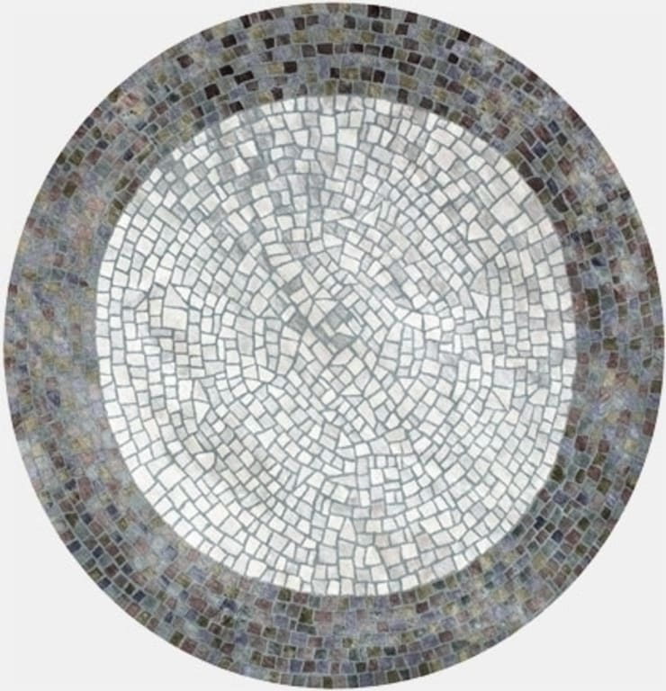 Deirdre Dyson ROMAN POND hand knotted wool and silk rug: modern  by Deirdre Dyson LLP, Modern
