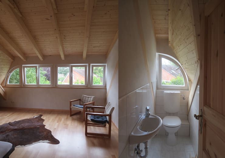 Baños de estilo escandinavo de Andreßen Architekten