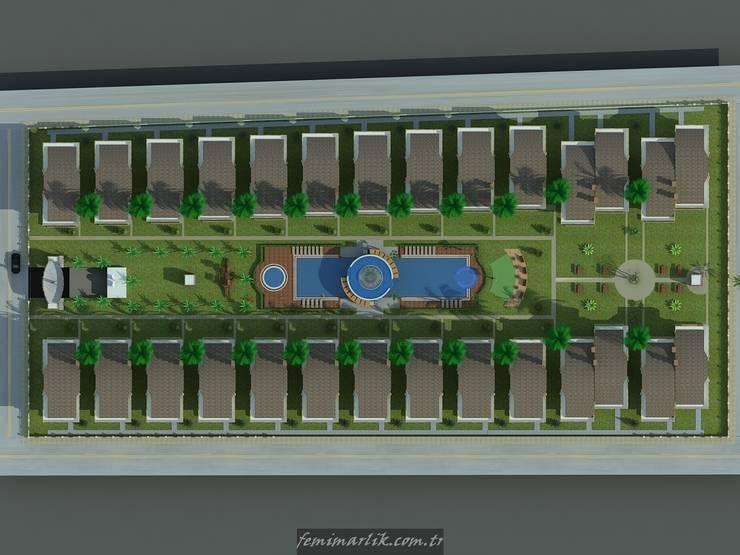 Fe mimarlık mühendislik ltd.şti. – Erdoğan konutları vaziyet planı:  tarz