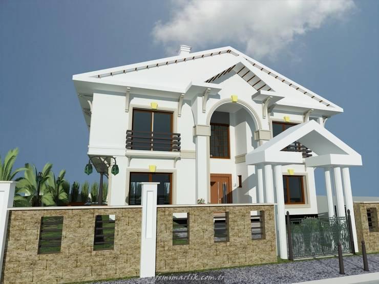 Fe mimarlık mühendislik ltd.şti. – Mungan villası görünüş 3:  tarz