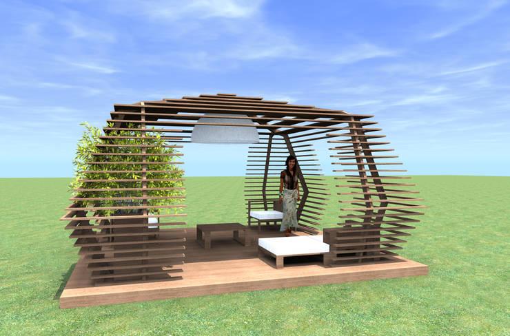Gazebo: Giardino in stile  di alessandro mognato architetto
