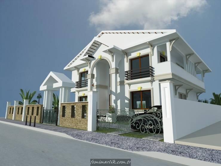 Fe mimarlık mühendislik ltd.şti. – Mungan villası görünüş 1:  tarz